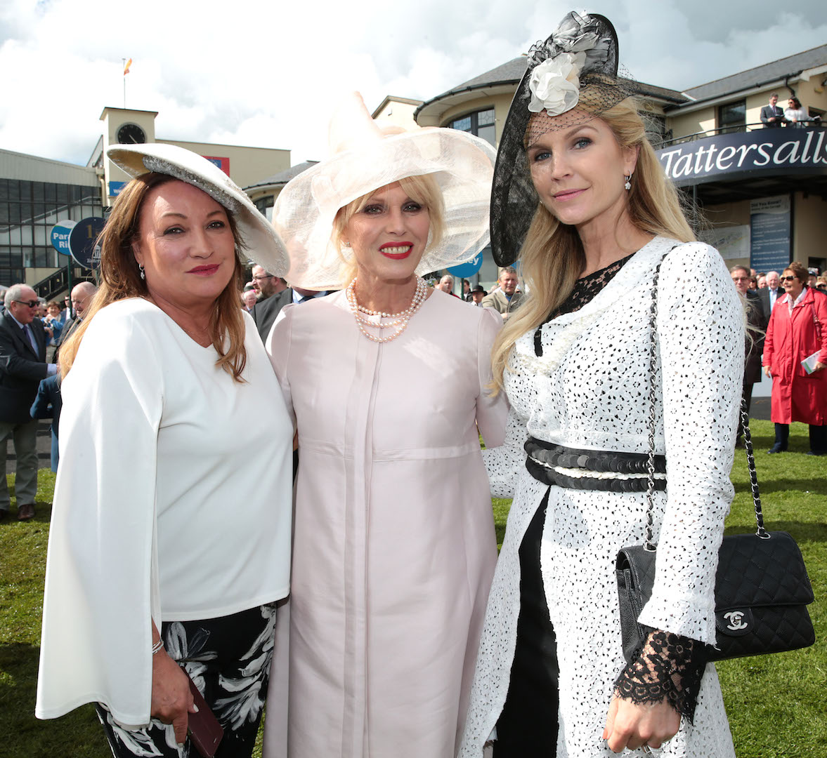 Norah Casey ,Joanna Lumley and Yvonne Keating at the Killashee Irish Tatler Style Icon competition at The 1000 Guineas at the Curragh Racecouse,Kildare.
