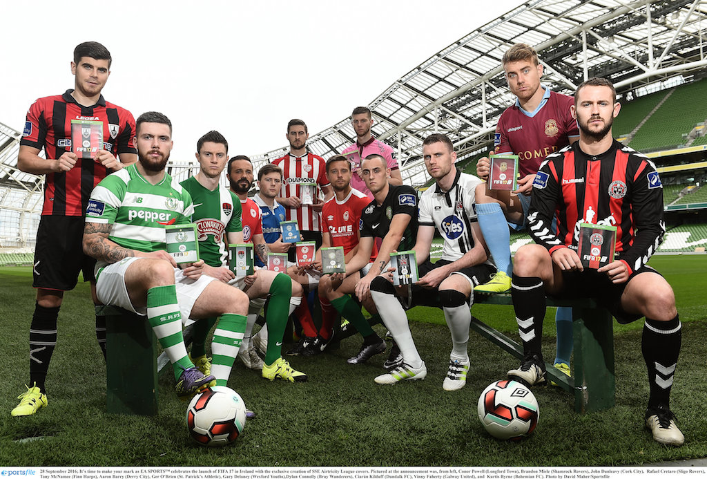 EA SPORTS™ celebrates the launch of FIFA 17 in Ireland with the exclusive creation of SSE Airtricity League covers.