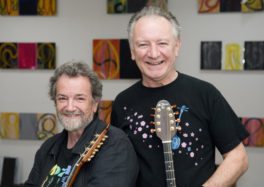 Andy Irvine (left) and Donal Lunny, photographed in Dublin by Kate Horgan.
