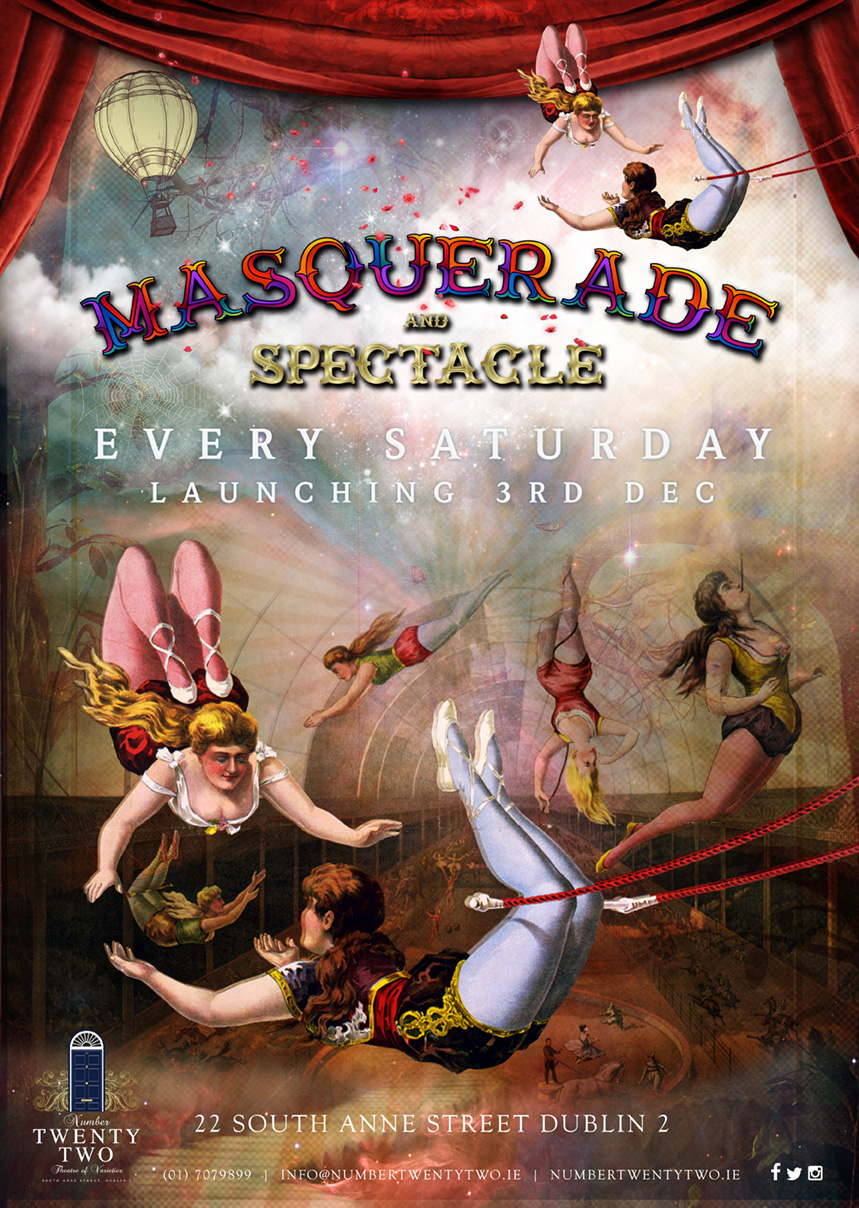 MASQUERADE and SPECTACLE poster