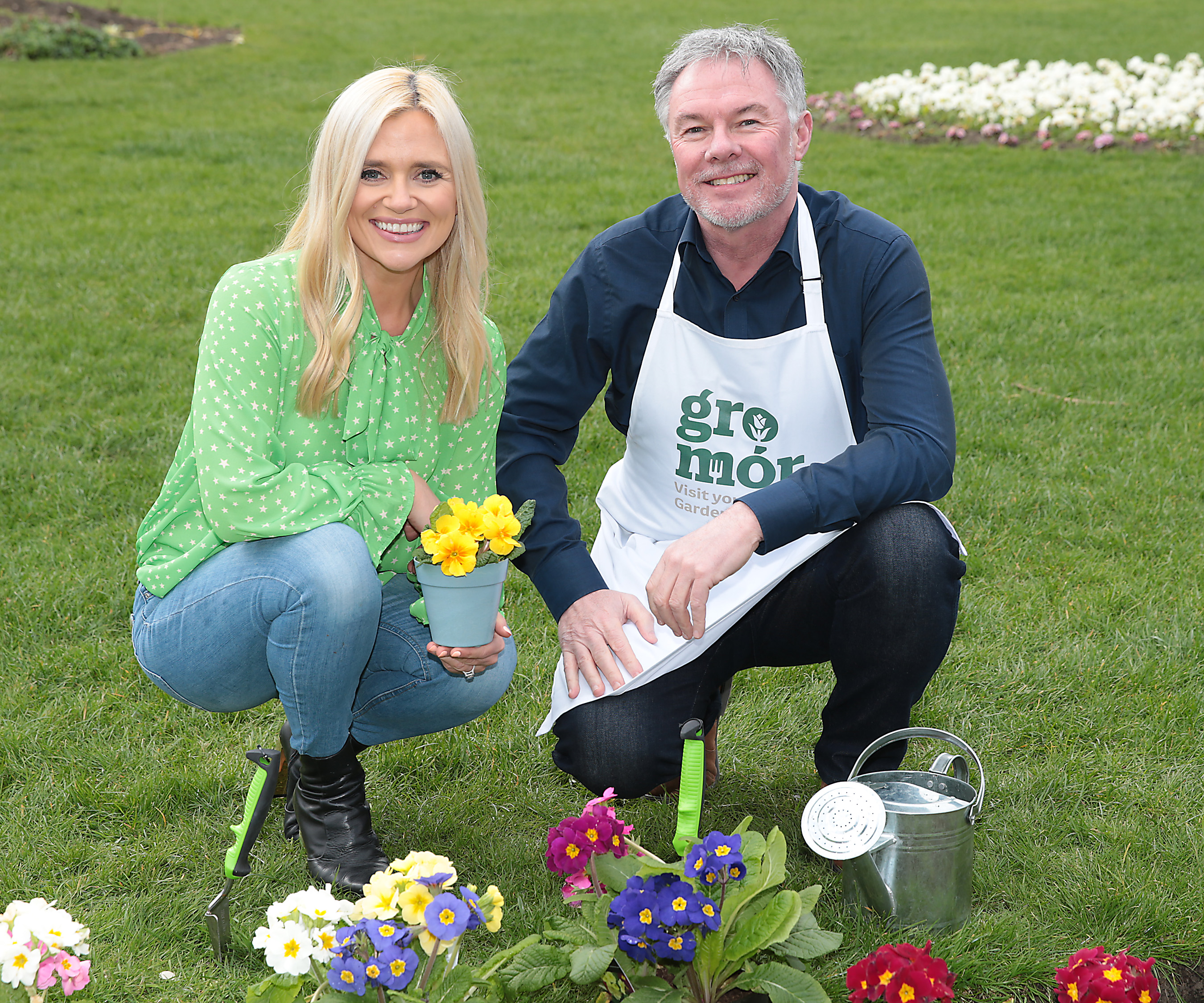 Karen Koster and Super Garden judge and the face of Bloom Festival, Gary Graham celebrate the arrival of spring and the launch of GroMór 2019 - encouraging everyone to visit their local garden centres and nurseries, buy Irish plants and get growing!        Pic Brian McEvoy No Repro fee for one use              GroMór is an initiative by Bord Bia in association with Retail Excellence Ireland, promoting its 62 local garden centres and nurseries located across the country. These centres have an extensive selection of plants along with qualified staff, who are available to offer free expert advice to people in all age groups from novices and new homeowners to experienced gardeners.   Discover your green fingers simply grab a trowel and uncover the beauty and mystery of the garden.  GroMór 2019 has two key themes that will focus on the seasonal plants with 'Garden Colour' across April and May and then 'Container Garden' from June onwards. April is the month when spring really starts to arrive and with the advice of GroMór ambassador Gary Graham, comes the opportunity to create your own super garden this summer! For anyone looking for advice or easy to follow guides and videos on how to grow flowers, plants, herbs, trees and vegetables or to find your local garden centre or nursery visit, www.GroMór.ie . GroMór 2019 is sponsored by Bord na Móna and Westland Horticulture. www.GroMór.ie