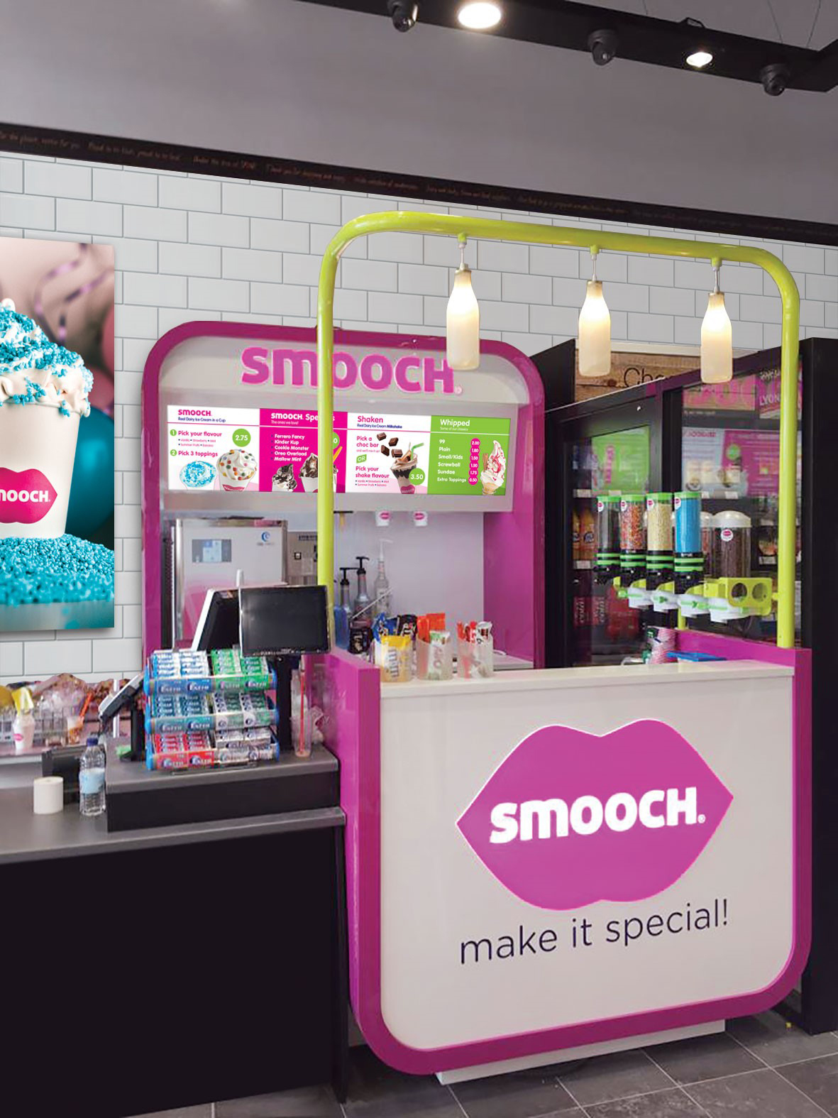 Smooch's new Ice Cream Parlour stand due in retail outlets around Ireland during the summer 2019. For information please contact  Mari O'Leary 016789888 - O'Leary PR