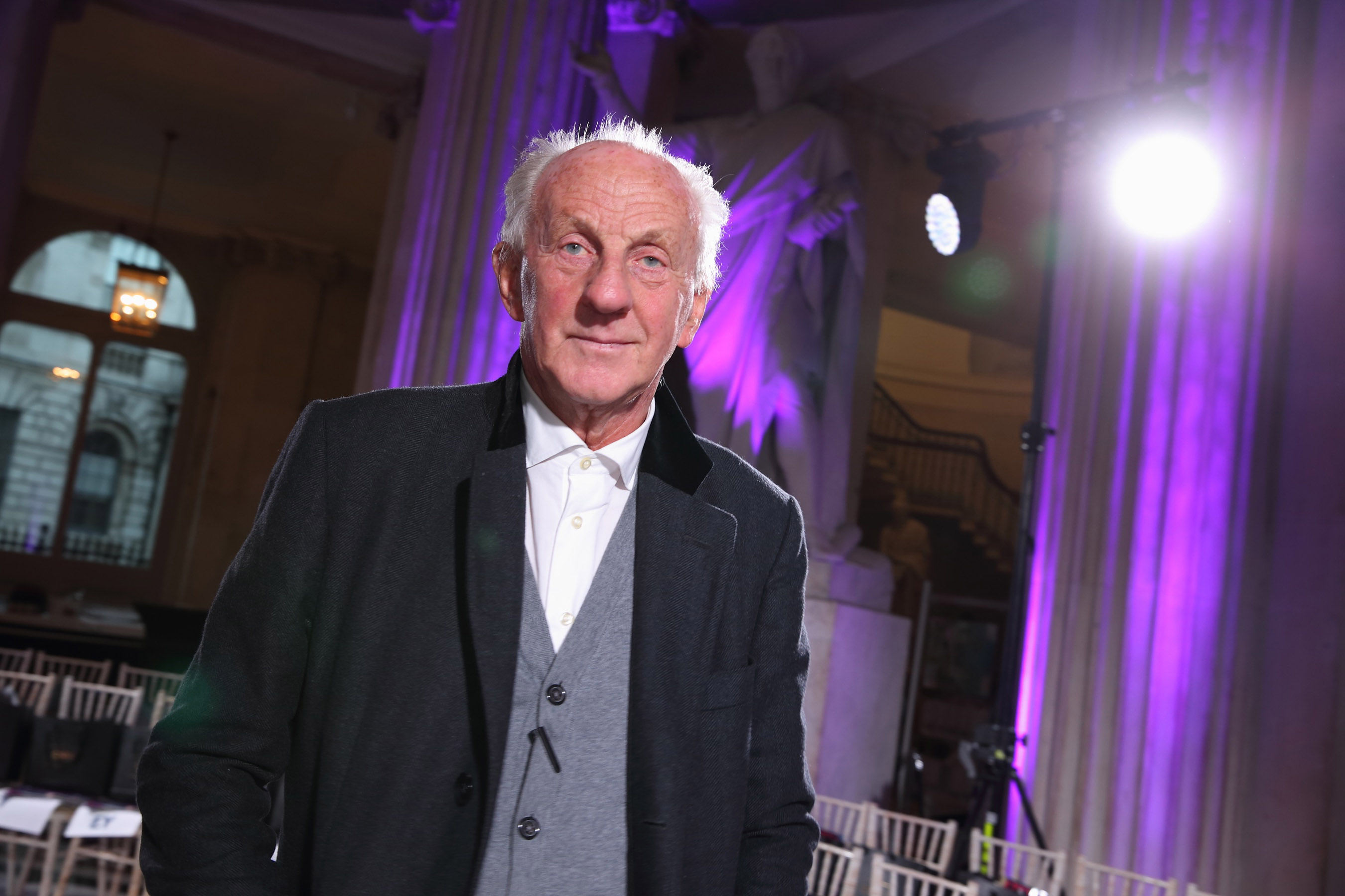 Paul Costelloe at the Irish Fashion Collective show at City Hall,Dublin supporting Saint Joseph's Shankill and their vision to lead the way in dementia care in Ireland. Pic Brian McEvoy Photography No Repro Fee for one use